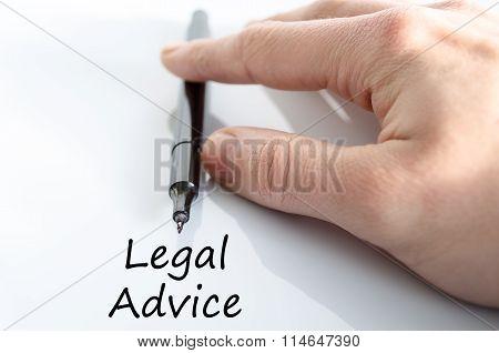 Legal Advice Text Concept