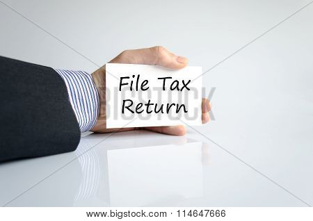 File Tax Return Text Concept