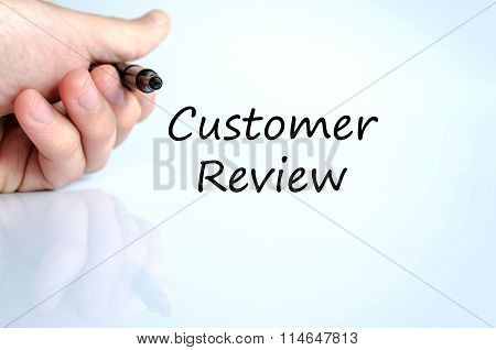Customer Review Text Concept