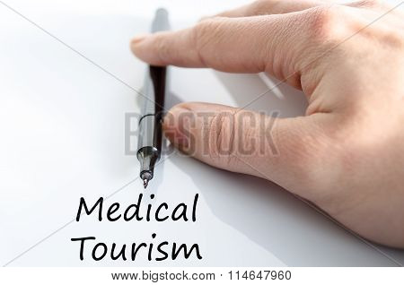 Medical Tourism Text Concept