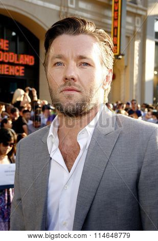 LOS ANGELES, CALIFORNIA - August 6, 2012. Joel Edgerton at the Los Angeles premiere of 'The Odd Life Of Timothy Green' held at the El Capitan Theater, Los Angeles.