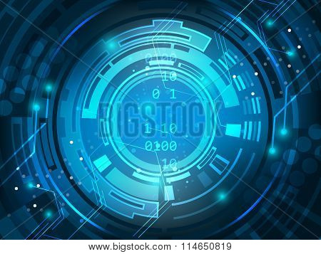 Abstract vector digital technology circuit board background.