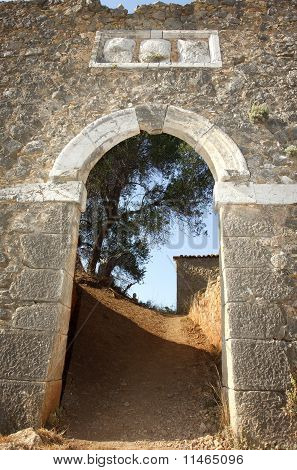 Entrance To The Castle Of Assos In Kefalonia