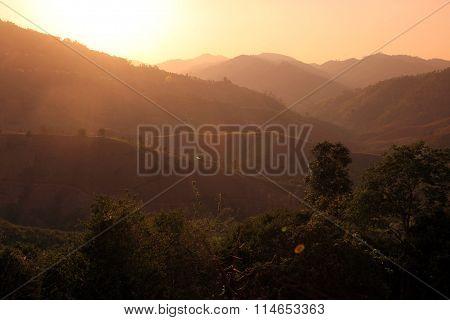 Asia Thailand Chiang Rai Mae Salong Landscape