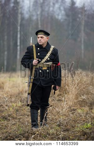 A member of the military-historical festival