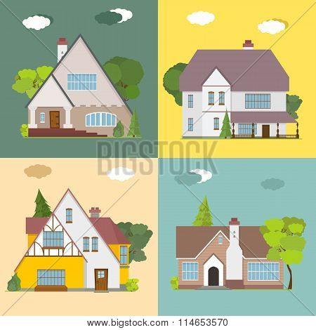 collection of beautiful cottages