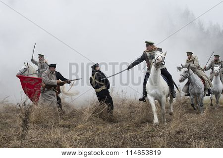 Reconstruction of one of the episodes of the Civil war in North-West Russia