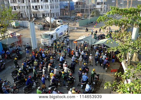 Crowded, Asia Construction Worker, Building Site