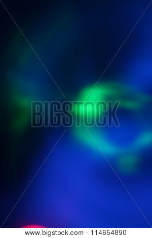 Abstract Blue and Green Lights
