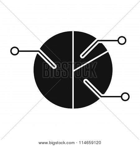 Pie chart infographic black simple icon