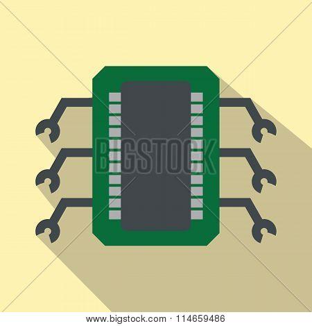 Microchip flat icon