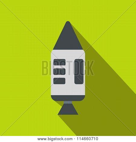 Spacecraft flat icon