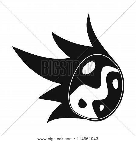 Falling meteor black simple icon