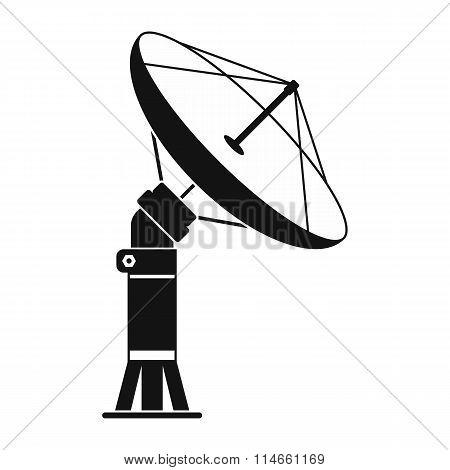 Parabolic aereal black simple icon