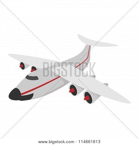 Airplane cartoon icon
