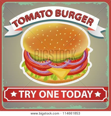 Burger Diet Retro Poster 1