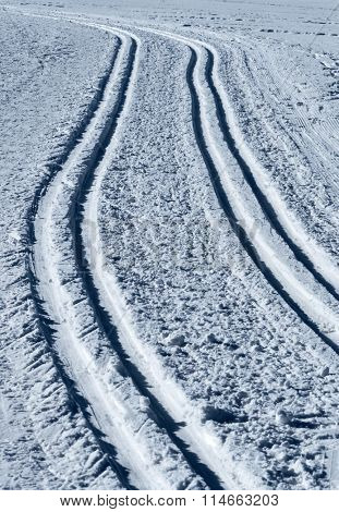 trail for nordic skiing