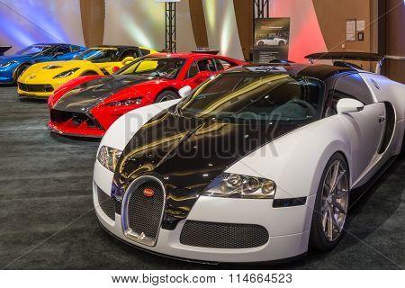 Bugatti Veyron, Falcon F7, and  Lingenfelter Z06 Corvette