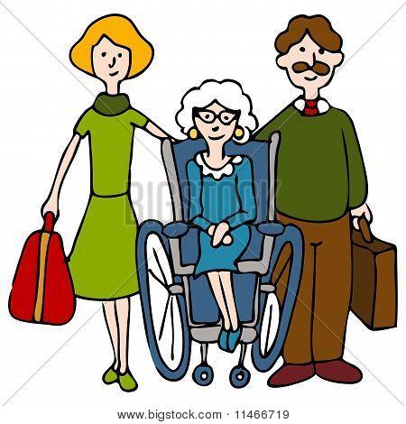 Movendo-se sênior para lar de idosos
