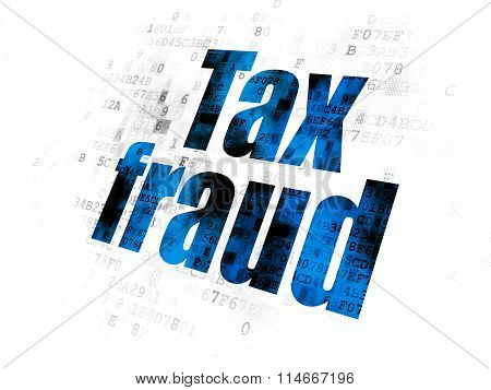 Law concept: Tax Fraud on Digital background