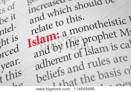 Definition Of The Word Islam In A Dictionary