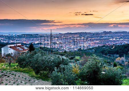 City of Split from Klis, Croatia.