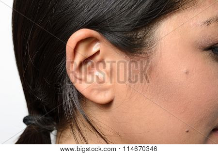 Ear Of A Young Woman