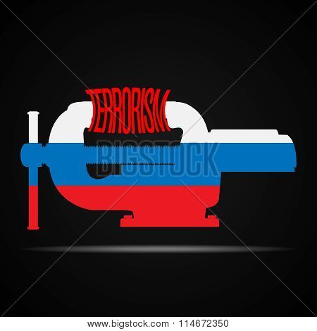 Russian Crush The Word Terrorism