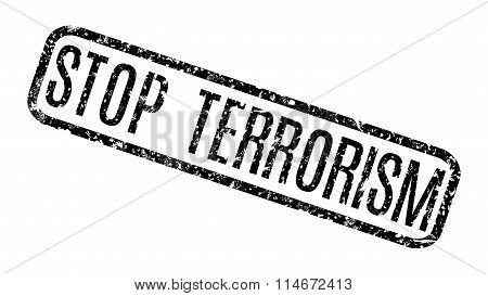 Black Grunge Stop Terrorism