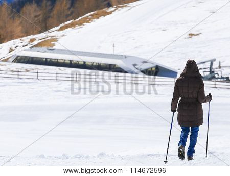 Nordic Walking In The Mountains