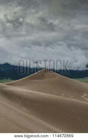 Smooth Peak In Sand Dunes National Park