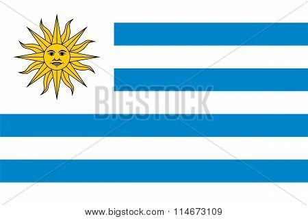 Standard Proportions For Uruguay Flag