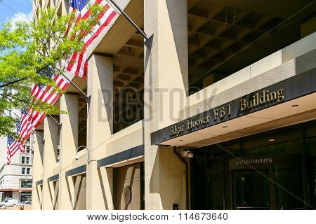 J. Edgar Hoover Building With American Flag