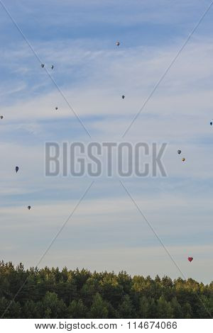 Minsk-Belarus, July 19, 2015: A Lot Of Air-balloons Participating In International Aerostatics Cup C