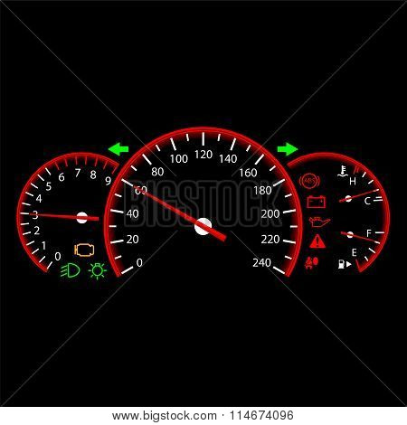 Car dashboard modern automobile control panel