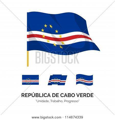 Flag Of The Republic Of Cape Verde.