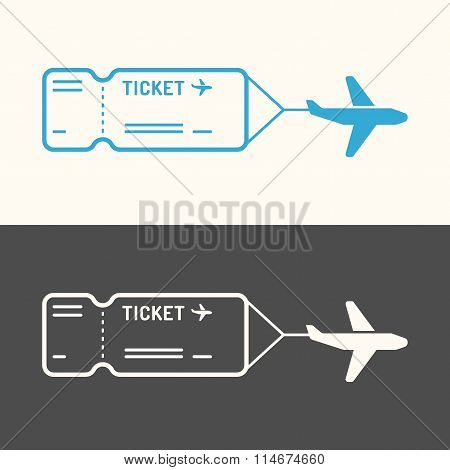Linear Image Of The Ticket.