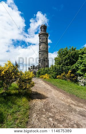 Nelson monument on Calton Hill Edinburgh