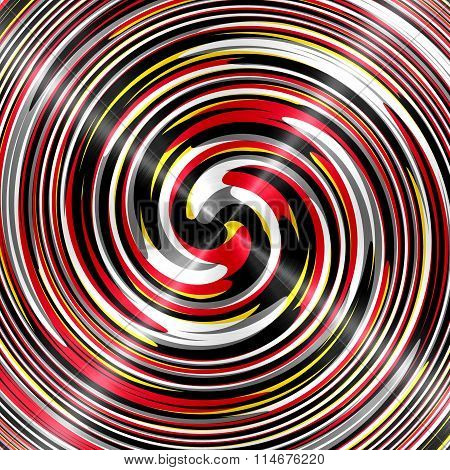 Abstract Colorful Spiral Stainless Steel Background