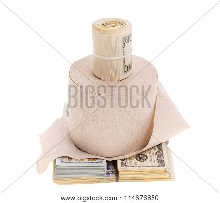 Money and toilet paper