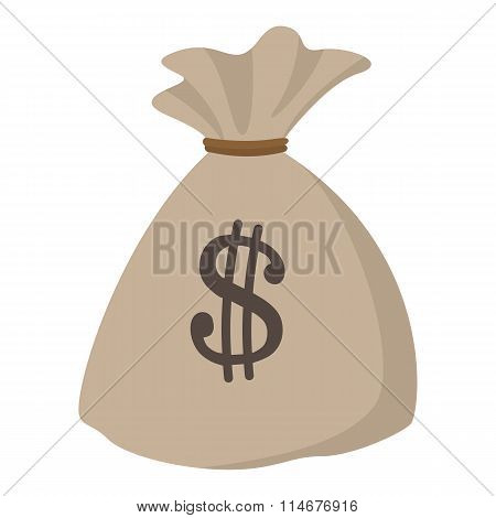 Money bag or sack cartoon icon