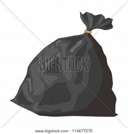 Full refuse plastic cartoon sack