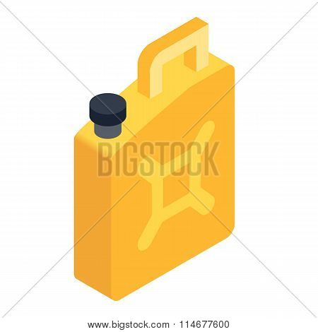 Fuel jerrycan isometric 3d icon