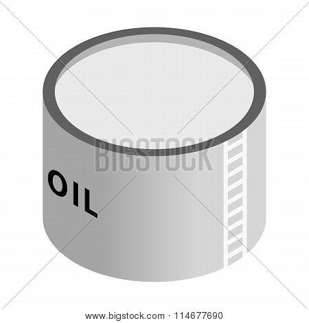 Storage oil tank isometric 3d icon