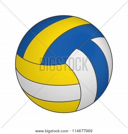 Volleyball 3d isometric icon