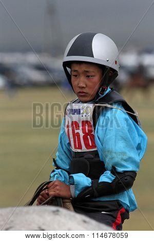 Boy Rides During Naadam