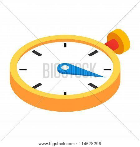 Stopwatch 3d isometric icon