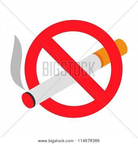 No smoking 3d isometric icon
