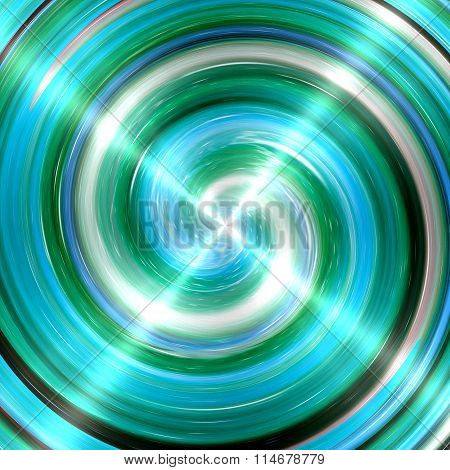 Abstract Turquoise Spiral Stainless Steel Background