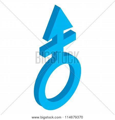 Male symbol isometric 3d icon